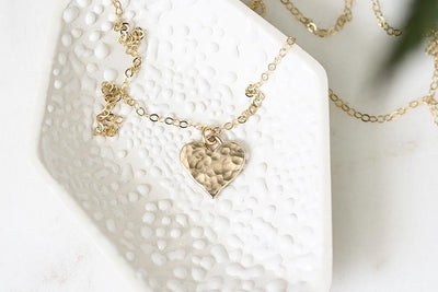 hammered heart necklace Necklaces Andrea Bonelli