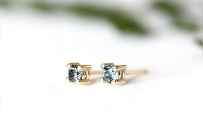 london blue topaz studs Earrings Andrea Bonelli