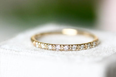 14k nove diamond ring Andrea Bonelli