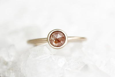 zoe peach rose cut diamond ring Sold Andrea Bonelli