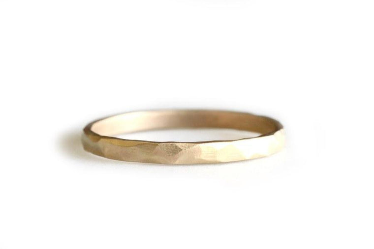 14k rustic carved band - Andrea Bonelli Jewelry
