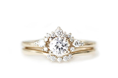 scarlett halo ring Moissanite Rings Andrea Bonelli