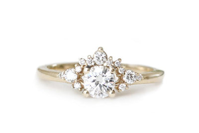 scarlett moissanite ring Sold Andrea Bonelli 14k Yellow Gold