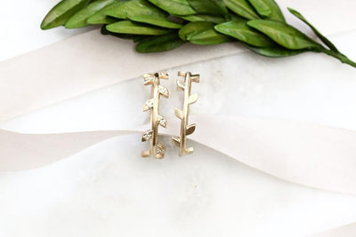 14k moissanite vine ring | Andrea Bonelli Jewelry