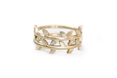 14k diamond vine ring | Andrea Bonelli Jewelry