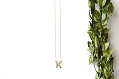 14k initial letter necklace Andrea Bonelli Jewelry