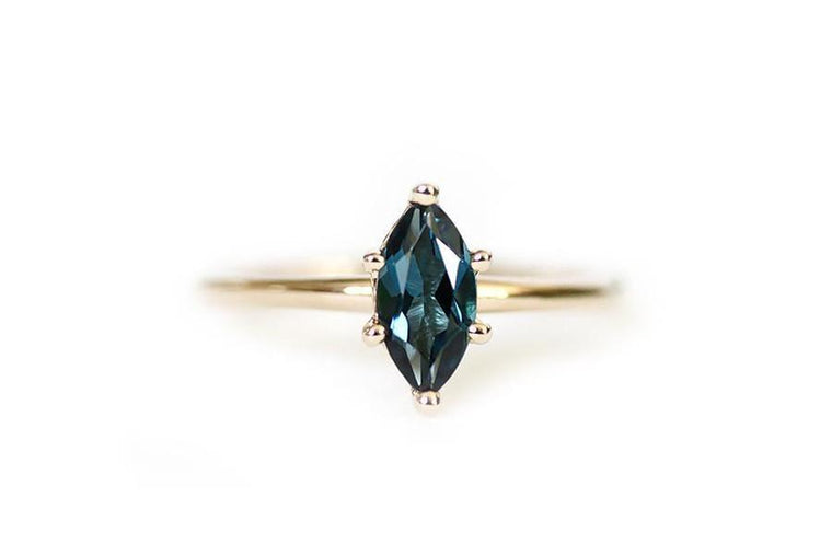 london blue topaz marquis ring - Andrea Bonelli Jewelry
