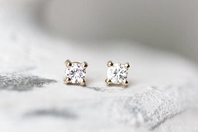 moissanite studs Earrings Andrea Bonelli