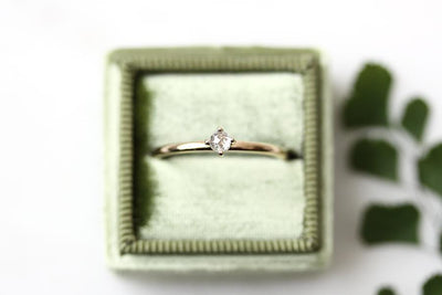 14k petit lola rose cut diamond ring Andrea Bonelli