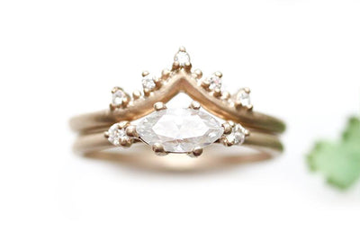 trine moissanite ring Moissanite Rings Andrea Bonelli