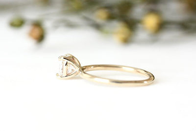 14k cushion moissanite ring | Andrea Bonelli Jewelry