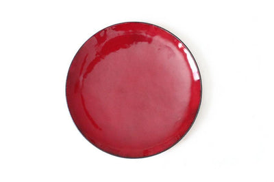 crimson enamel jewelry dish Jewelry Dishes Andrea Bonelli Jewelry 4""
