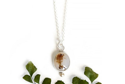 dendritic agate necklace Necklaces Andrea Bonelli Jewelry