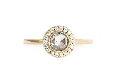 eva salt and pepper diamond ring Sold Andrea Bonelli 14k Yellow Gold