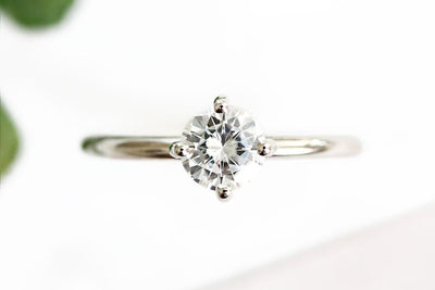 lola ring .50ct Moissanite Rings Andrea Bonelli