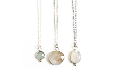 silver rutilated quartz necklace Necklaces Andrea Bonelli Jewelry