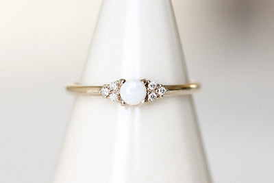 sora opal + diamond ring Gemstone Rings Andrea Bonelli