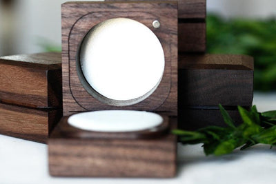 handcrafted walnut ring box Ring Boxes Andrea Bonelli Single Slot