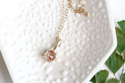 rose cut diamond necklace no 1 Necklaces Andrea Bonelli Jewelry