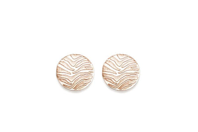 zebra studs Earrings Andrea Bonelli 14k Rose Gold Flat Polished
