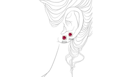 ruby studs Earrings Andrea Bonelli