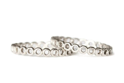 silver open circle band Bands Andrea Bonelli Jewelry