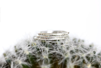 silver glint stacking rings Metal Rings Andrea Bonelli