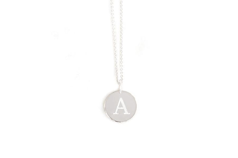 silver uppercase initial charm - Andrea Bonelli Jewelry