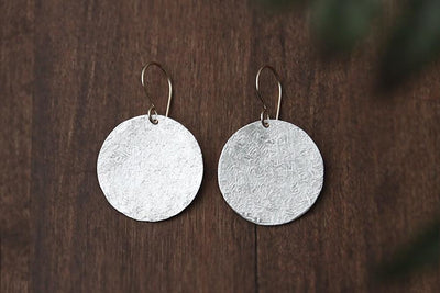 lunar silver + gold earrings Earrings Andrea Bonelli Jewelry