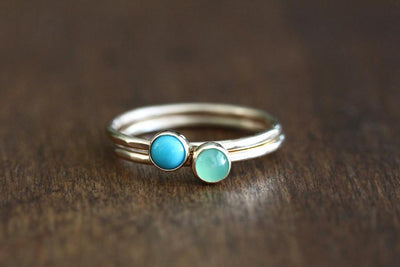 aria turquoise stacking ring Andrea Bonelli