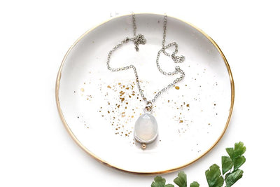 faceted white chalcedony necklace Necklaces Andrea Bonelli Jewelry
