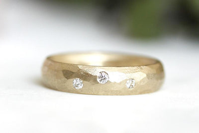 diamond rustic faceted band Bands Andrea Bonelli