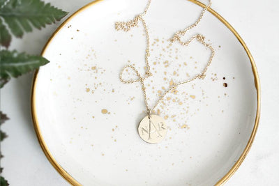 monogram charm necklace Necklaces Andrea Bonelli Jewelry
