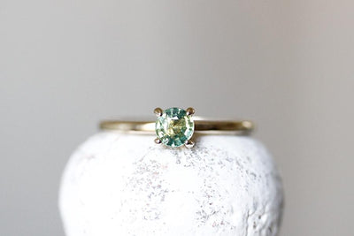 lauren parti green sapphire ring Gemstone Rings Andrea Bonelli