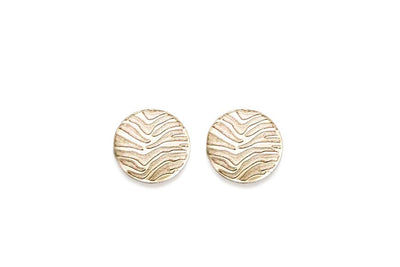 zebra studs Earrings Andrea Bonelli 14k Yellow Gold Flat Polished