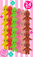 Coloured Kewpie Dolls mixed pack of 24
