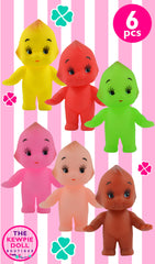Coloured Kewpie Dolls mixed pack of 6