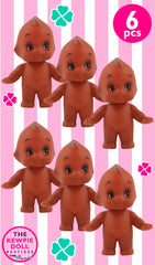 Kewpie Dolls Brown Standing Pack of 6