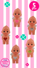 Kewpie Dolls Angel Standing 5cm Multi Hearts Pack of 5