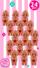 Kewpie Dolls Angel Standing 5cm Red Heart Pack of 24