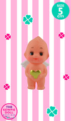 Kewpie Doll Angel Standing 5cm with Gold Heart