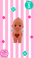Kewpie Doll Angel Standing 5cm with Red Heart