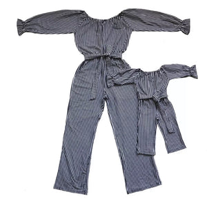 Stripped mommy and me Romper