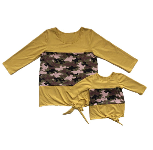 Camo matching mommy me shirts