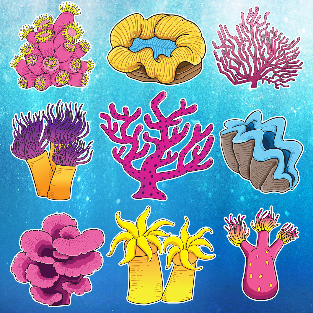Free Coral Stickers