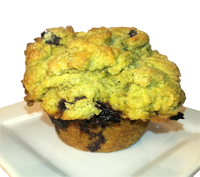 Blueberry Matcha Muffins
