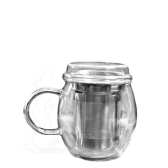 Glass Infuser Mug