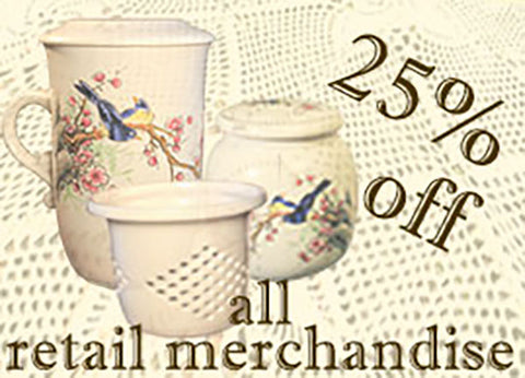 25% Discount on all retail merchandise
