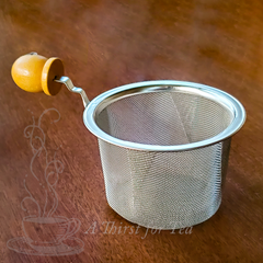 Mesh Stainless Steel Tea Strainer with Wooden Handle