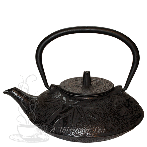 Black Bamboo Cast Iron Teapot